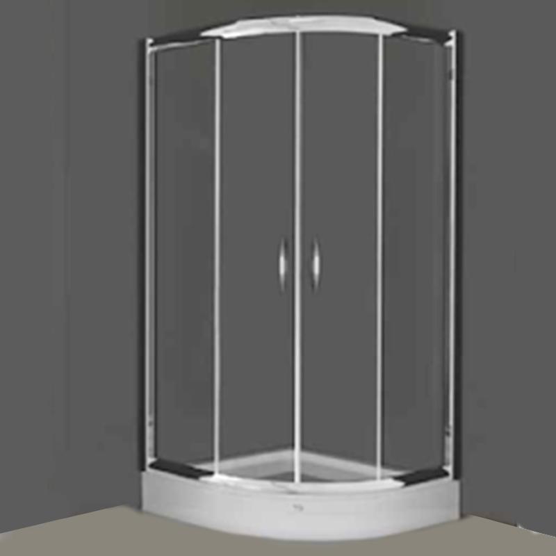 tus kabina, providno staklo, srebrni profili